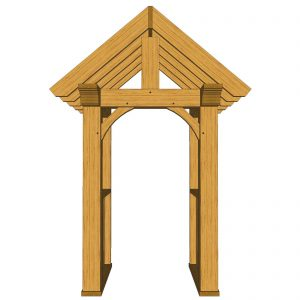 Oak canopy porch